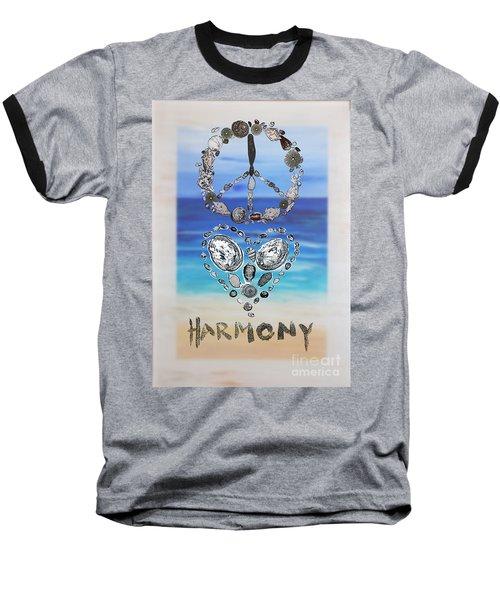 Peace Love Harmony Baseball T-Shirt