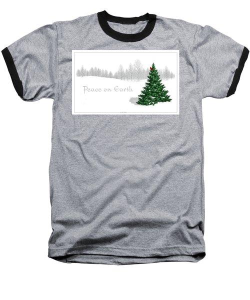 Peace On Earth Baseball T-Shirt by Scott Ross