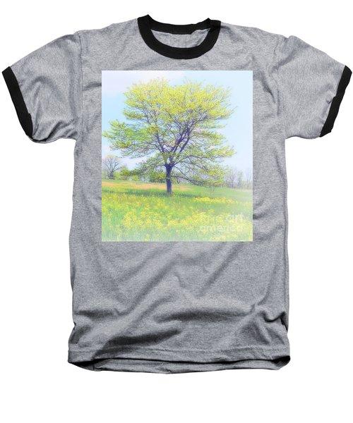 Peace On The Hillside Baseball T-Shirt