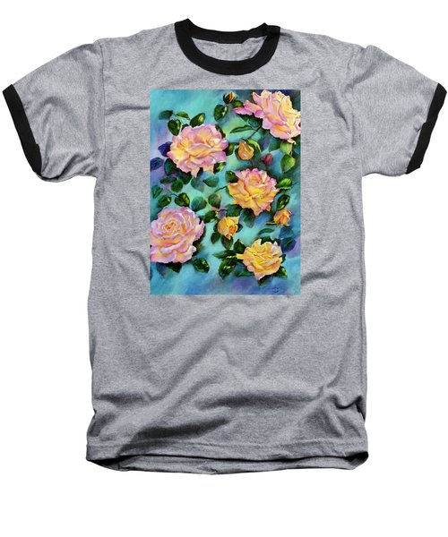 Baseball T-Shirt featuring the pastel Peace Opus by Ann Peck