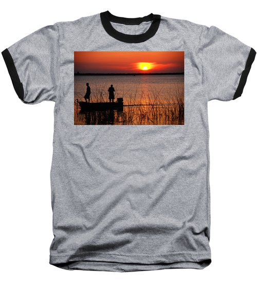 Peace Over The Water Baseball T-Shirt