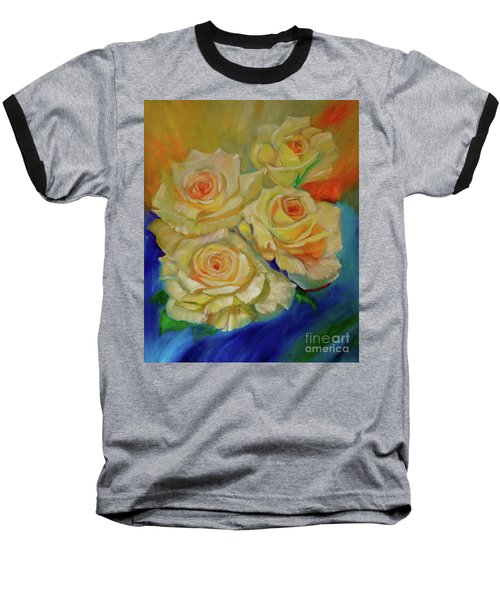 Peace Roses Baseball T-Shirt