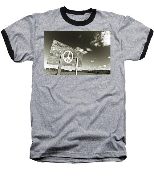 Peace Sepia Baseball T-Shirt