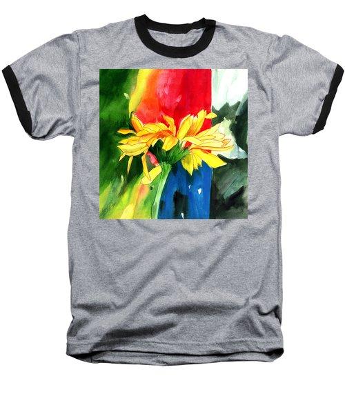 Peace Square Baseball T-Shirt by Anil Nene
