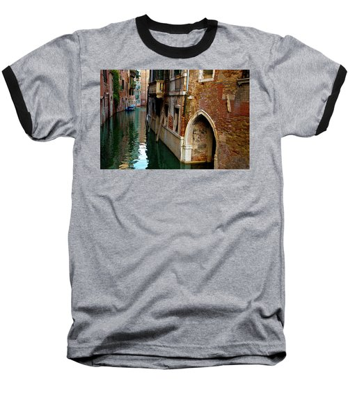 Baseball T-Shirt featuring the photograph Peaceful Canal by Harry Spitz