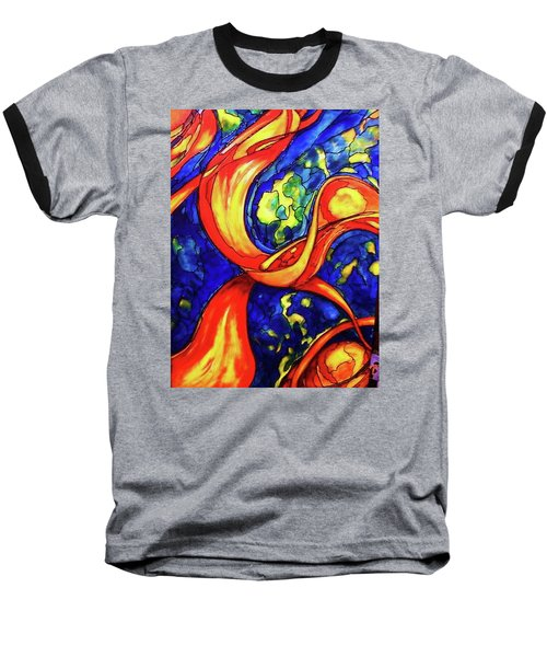 Baseball T-Shirt featuring the painting Peaceful Coexistence by Rae Chichilnitsky