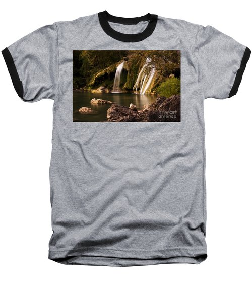 Baseball T-Shirt featuring the photograph Peaceful Day At Turner Falls by Tamyra Ayles