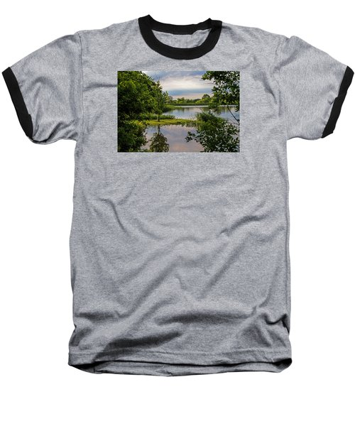 Peaceful Evening Baseball T-Shirt by Alana Thrower