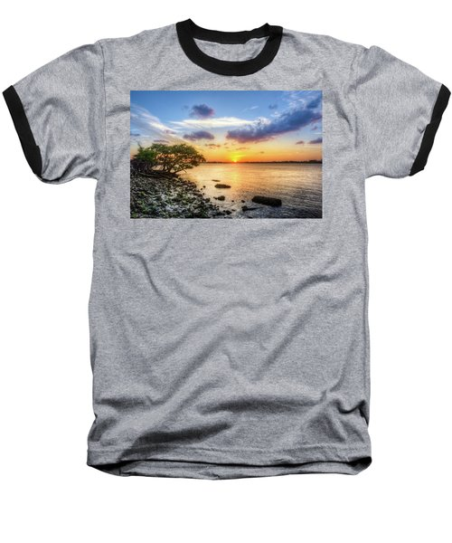 Baseball T-Shirt featuring the photograph Peaceful Evening On The Waterway by Debra and Dave Vanderlaan