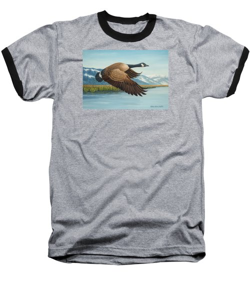 Peaceful Flight Baseball T-Shirt