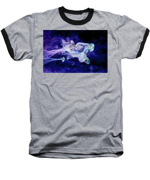 Peaceful Flow - Fine Art Photography - Paint Pouring Baseball T-Shirt by Modern Art Prints