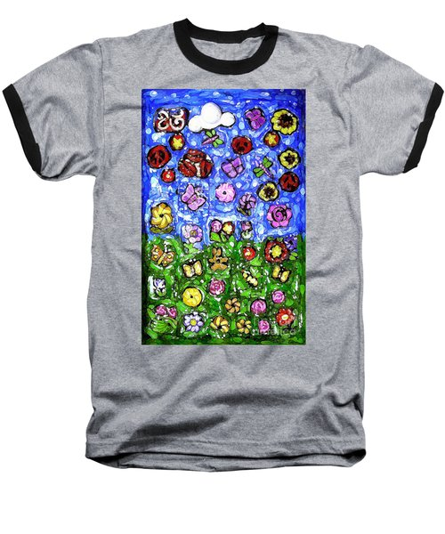 Peaceful Glowing Garden Baseball T-Shirt