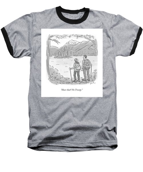 Peaceful Hikers Baseball T-Shirt