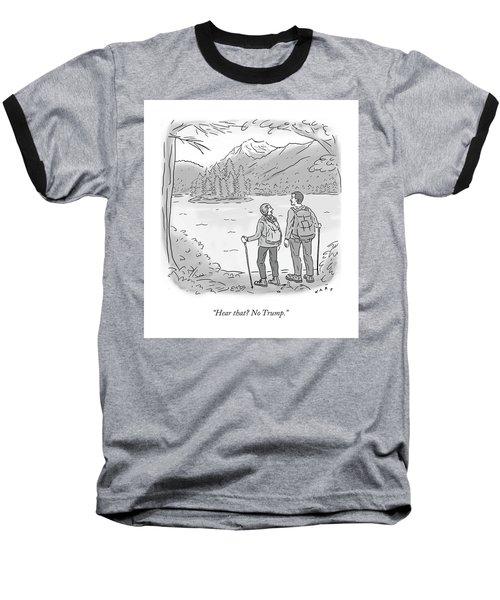 Peaceful Hikers Baseball T-Shirt