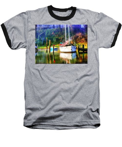 Baseball T-Shirt featuring the photograph Peaceful Morning In The Cove by Brian Wallace