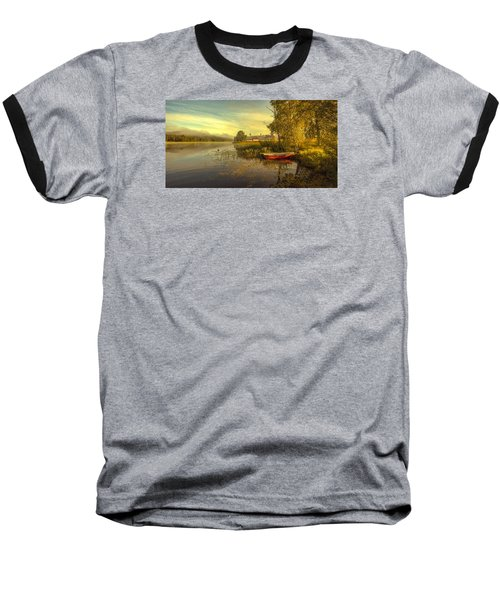 Baseball T-Shirt featuring the photograph Peaceful Morning by Rose-Maries Pictures