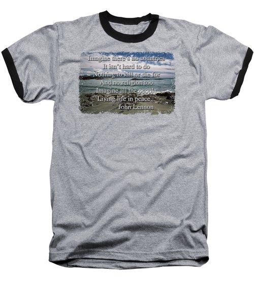 Peaceful Pacific Beach Baseball T-Shirt