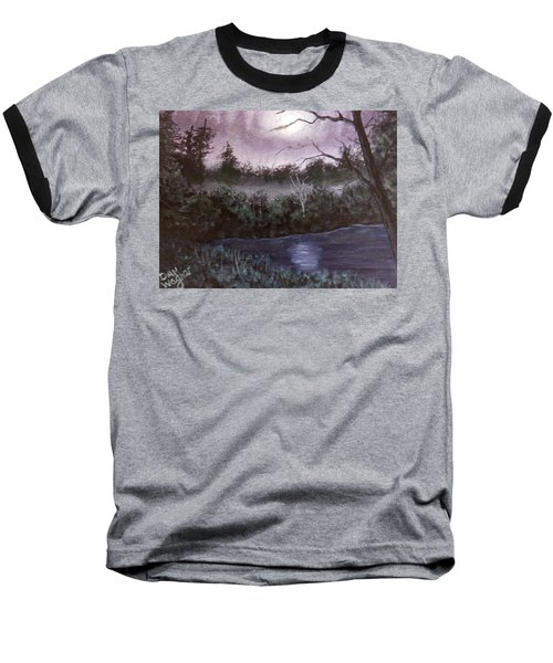 Peaceful Pond Baseball T-Shirt by Dan Wagner