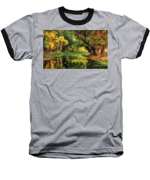 Peaceful Pond In The Trees Baseball T-Shirt