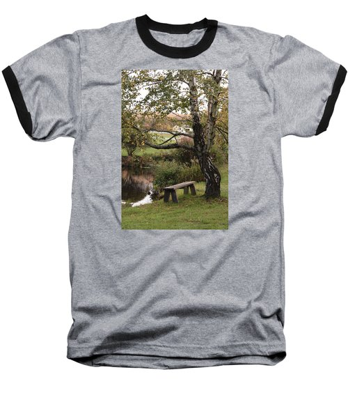 Peaceful Retreat Baseball T-Shirt by Margie Avellino