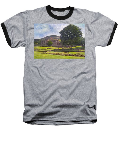 Peaceful Retreat - Melrose Abbey  Baseball T-Shirt