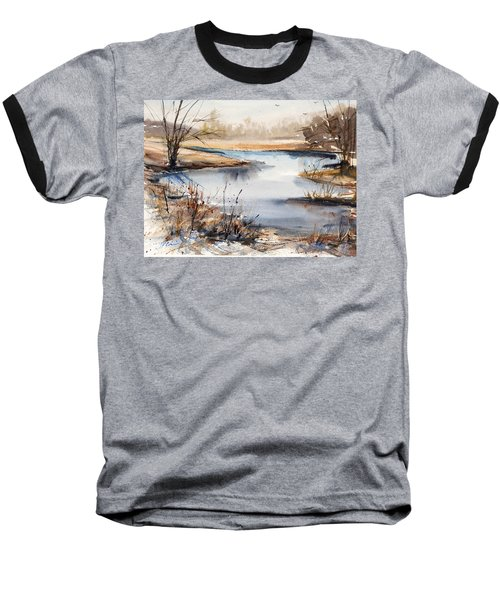 Peaceful Stream Baseball T-Shirt by Judith Levins