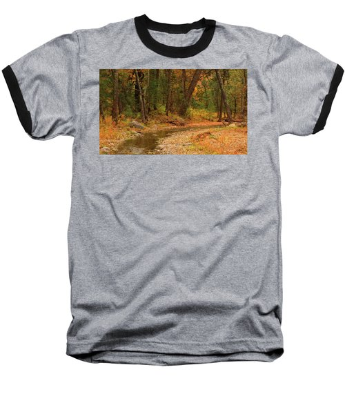 Peaceful Stream Baseball T-Shirt by Roena King