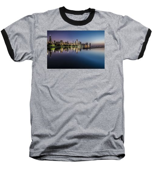 Peaceful Summer Dawn Scene On Chicago's Lakefront Baseball T-Shirt
