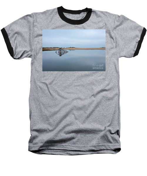 Baseball T-Shirt featuring the photograph Peaceful Tidepool On The Outer Banks by Dan Carmichael