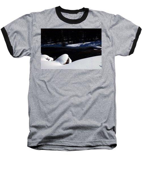 Peaceful Winter Scene Baseball T-Shirt