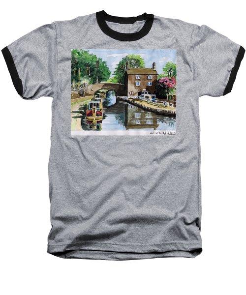 Peacfull House On The Lake Baseball T-Shirt