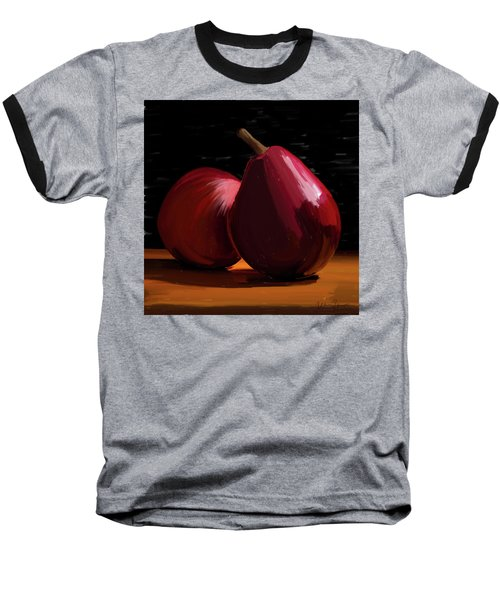 Peach And Pear 01 Baseball T-Shirt by Wally Hampton