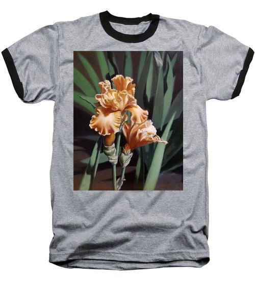 Peach Iris Baseball T-Shirt