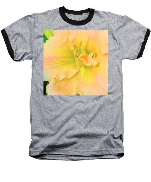 Peach Lily Baseball T-Shirt