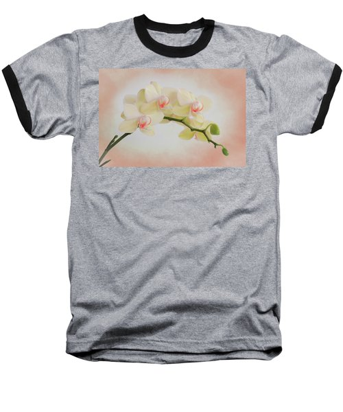 Peach Orchid Spray Baseball T-Shirt