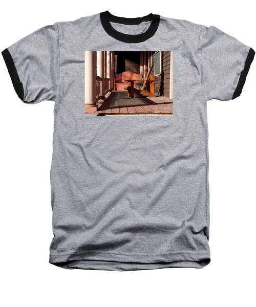 Peach Porch Baseball T-Shirt by Betsy Zimmerli