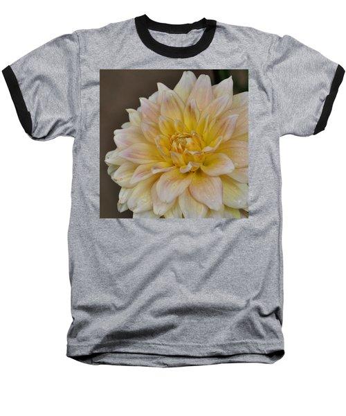 Peaches And Cream Dahlia Baseball T-Shirt