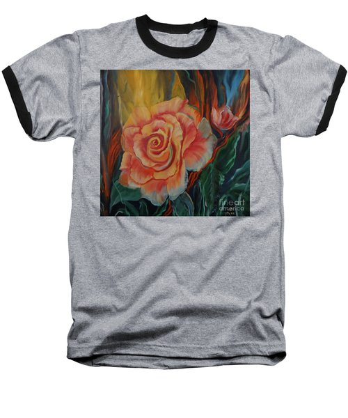 Peachy Rose Baseball T-Shirt