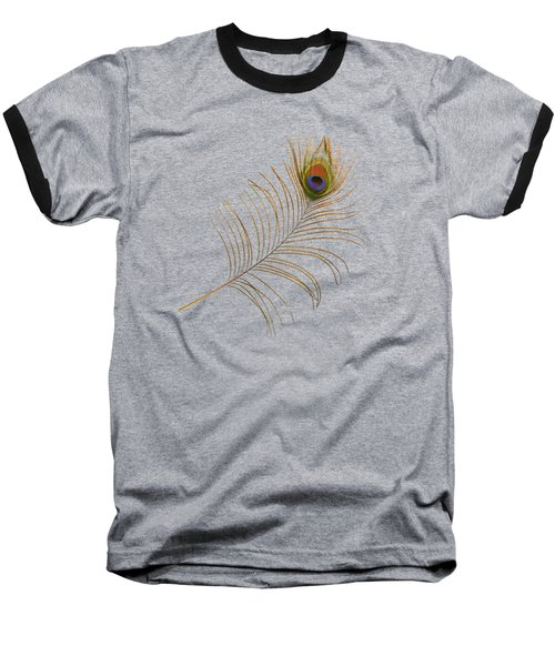 Baseball T-Shirt featuring the photograph Peacock Feather by Bradford Martin
