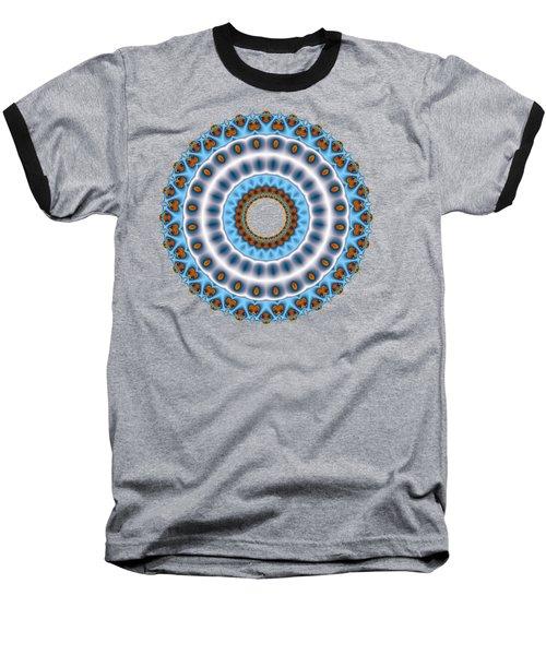 Peacock Fractal Mandala I Baseball T-Shirt