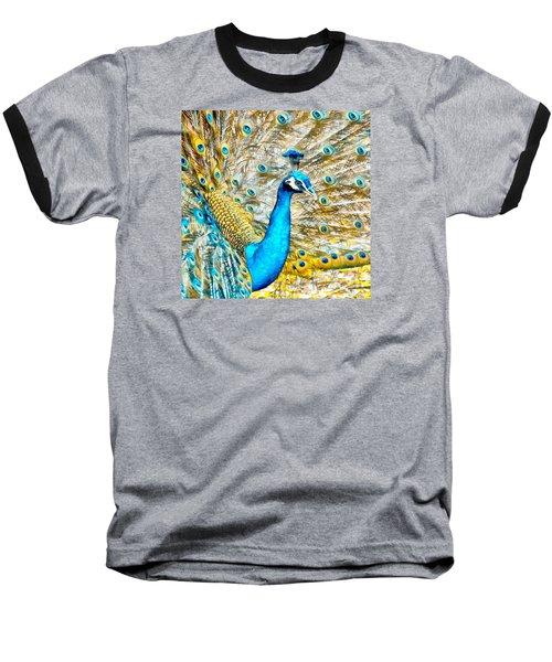 Peacock Paradise Baseball T-Shirt by Charmaine Zoe