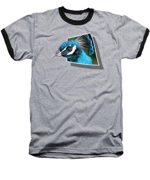 Peacock Baseball T-Shirt by Shane Bechler
