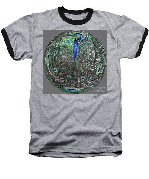 Peacock Swirl #2 Baseball T-Shirt