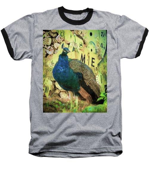 Peacock Time Baseball T-Shirt
