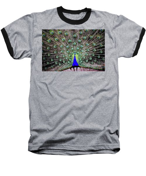 Peacock Baseball T-Shirt by Vivian Krug Cotton