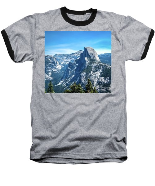 Peak Of Half Dome- Baseball T-Shirt
