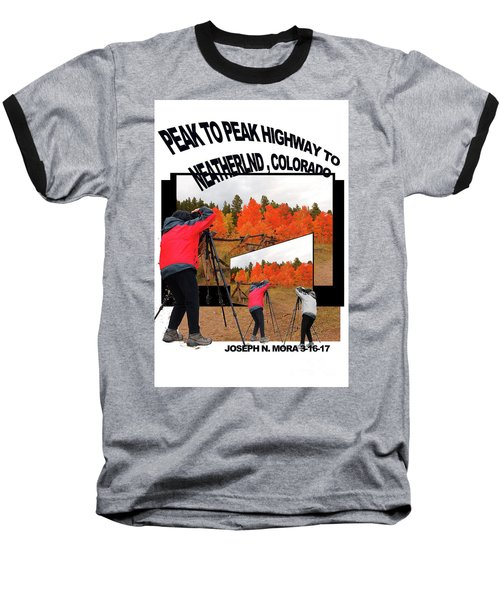 Peak To Peak Highway Baseball T-Shirt