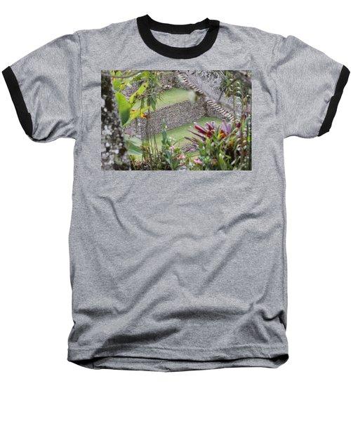 Peeking In At Machu Picchu Baseball T-Shirt