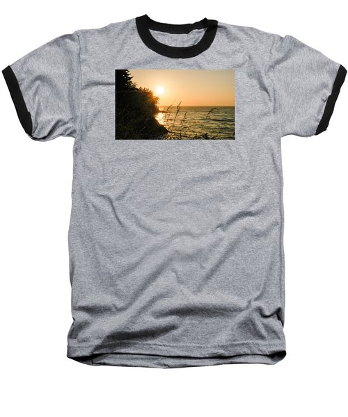 Baseball T-Shirt featuring the photograph Peaking Sunset by Monte Stevens