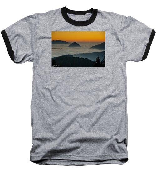 Peaks Above The Fog At Sunset Baseball T-Shirt